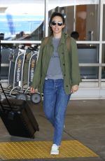 EMMY ROSSUM at LAX Airport in Los Angeles 08/05/2017