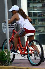 EVA LONGORIA Riding a Bike Out in Miami 08/06/2017