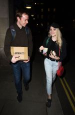 EVANNA LYNCH Leaves Disco Pigs in London 08/17/2017