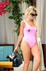FARRAH ABRAHAM in Swimsuit at a Pool in Los Angeles 08/13/2017