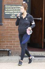 FERNE MCCANN Leaves a Gym in Essex 08/22/2217