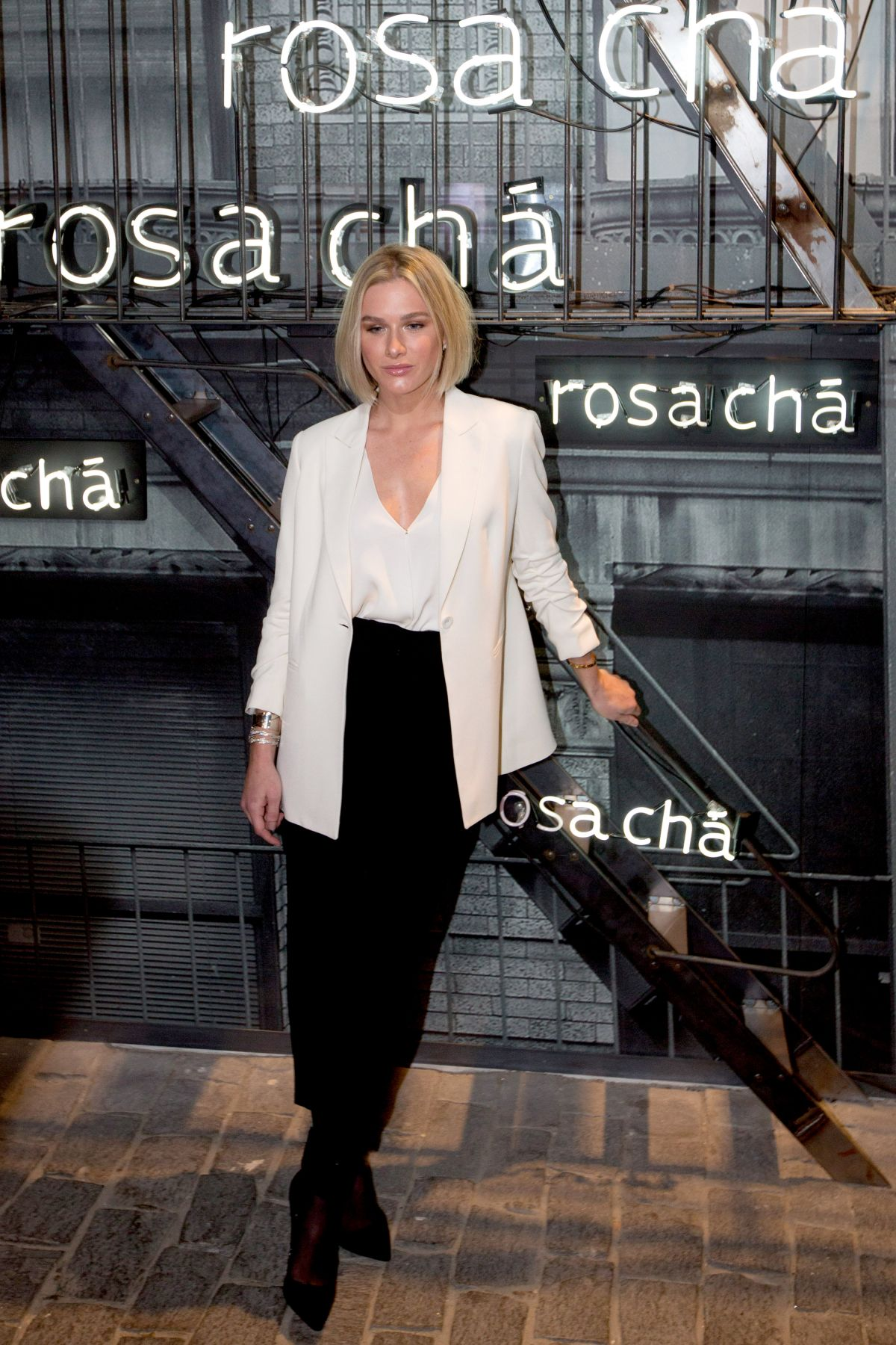 FIORELLA MATTHEIS at Rosa Cha Summer Collection Lauch in Sao Paulo 08/16/2017