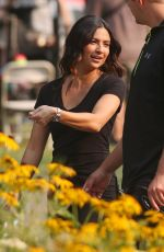 FLORIANA LIMA on the Set of Supergirl in Vancouver 08/03/2017