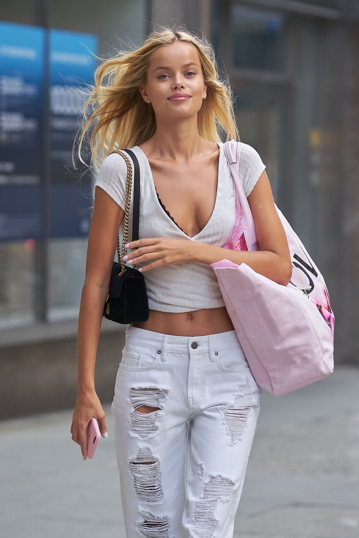 FRIDA AASEN at Fittings for Victoria's Secret Fashion Show 2017 in New York 08/26/2017
