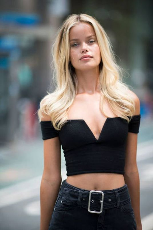 FRIDA AASEN at Fittings for Victoria's Secret Fashion Show 2017 in New York 08/27/2017