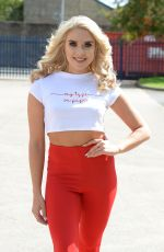 GABBY ALLEN Out and About in Manchester 08/15/2017