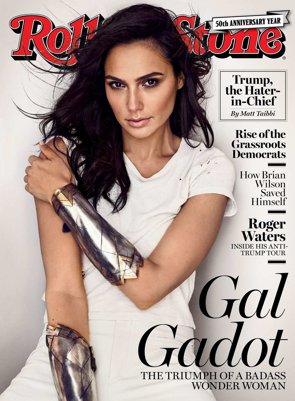 GAL GADOT for Rolling Stone Magazine, 50th Anniversary Edition