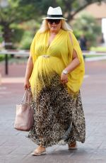 GEMMA COLLINS at The Only Way is Essex Cast in Marbella 08/08/2017