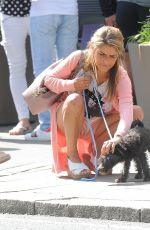 GEMMA OATEN Out with Her Dog in Chelsea 08/13/2017