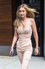 GIGI HADID at Victoria's Secret Offices in New York 08/28/2017