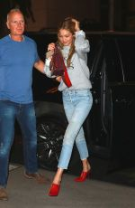 GIGI HADID Leaves Unicef Party at The Img Offices in New York 08/28/2017