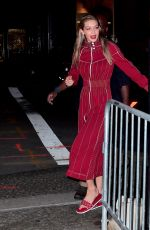 GIGI HADID on the Set of a Photoshoot at Mr. Chow in New York 07/31/2017