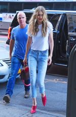 GIGI HADID Out in New York 08/28/2017