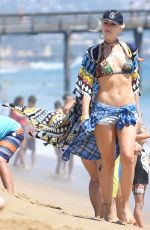 GWEM STEFANI in Bikini Top and Cutoffs at Newport Beach 07/30/2017