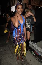 HAILEY BALDWIN and JUSTINE SKYE at Republic Records and Cadillac VMA After-party in West Hollywood 08/27/2017