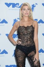 HAILEY BALDWIN at 2017 MTV Video Music Awards Press Room in Los Angeles 08/27/2017