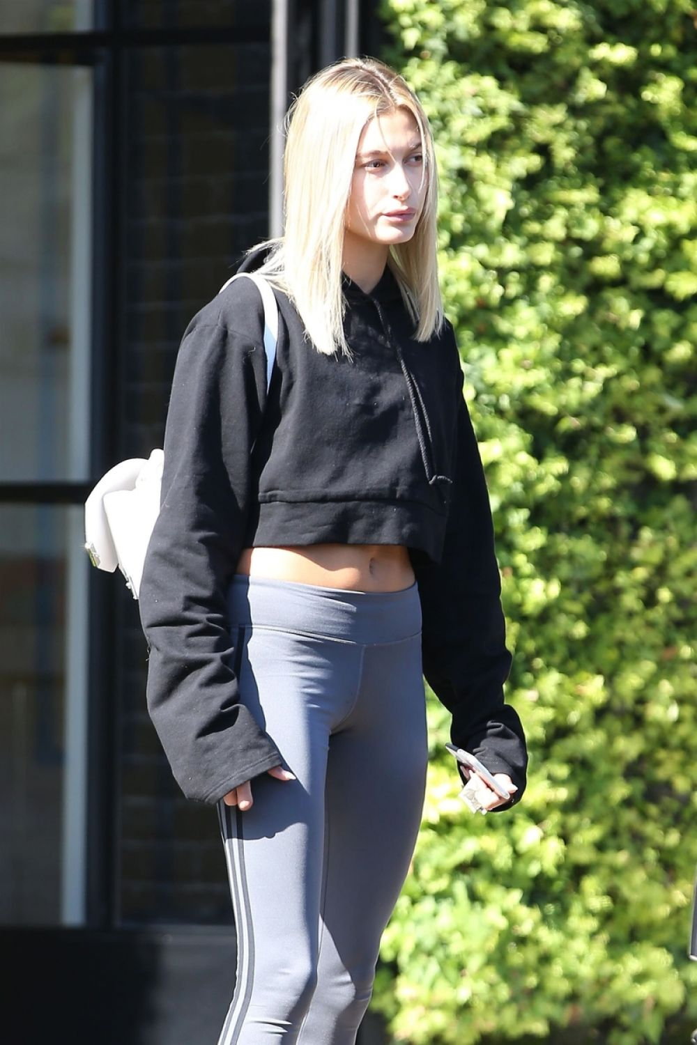 HAILEY BALDWIN Leaves Nine Zero One in West Hollywood 08/10/2017