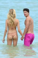 HAILEY CLAUSON in Bikini on the Beach in Miami 07/22/2017