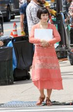 HALEY LU RICHARDSON on the Set of The Chaperone in New York 08/08/2017