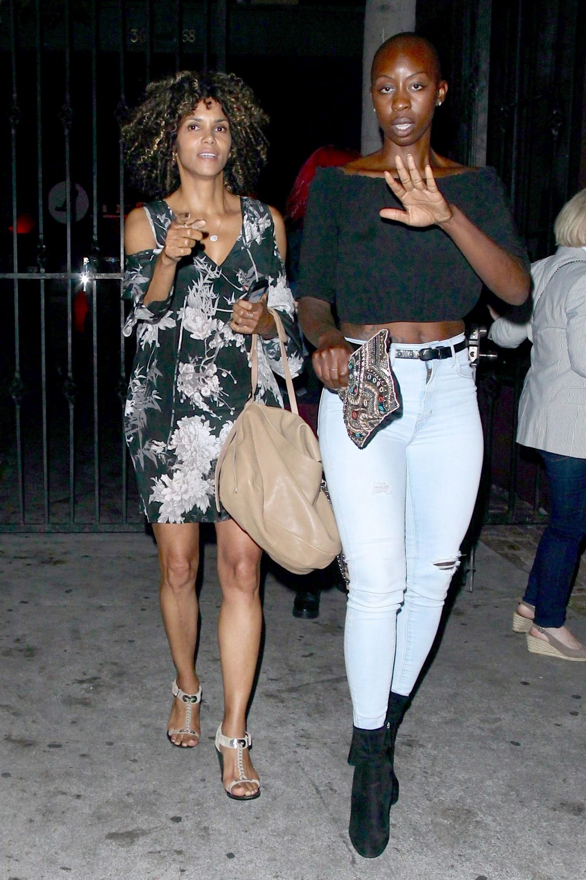 HALLE BERRY Leaves Largo at Coronet Music and Comedy Club in Los Angeles 08/10/2017