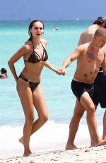 HANNA IVANOVA in Bikini at a Beach in Miami 08/02/2017