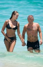 HANNA IVANOVA in Bikini at a Beach in Miami 08/14/2017