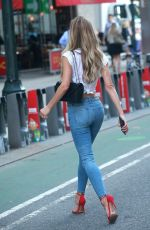 HANNAH FERGUSON Arrives at Victoria's Secret Auditions in New York 08/17/2017