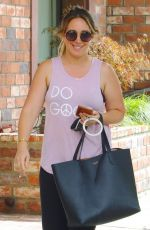 HAYLIE DUFF Heading to a Gym in Studio City 08/16/2017