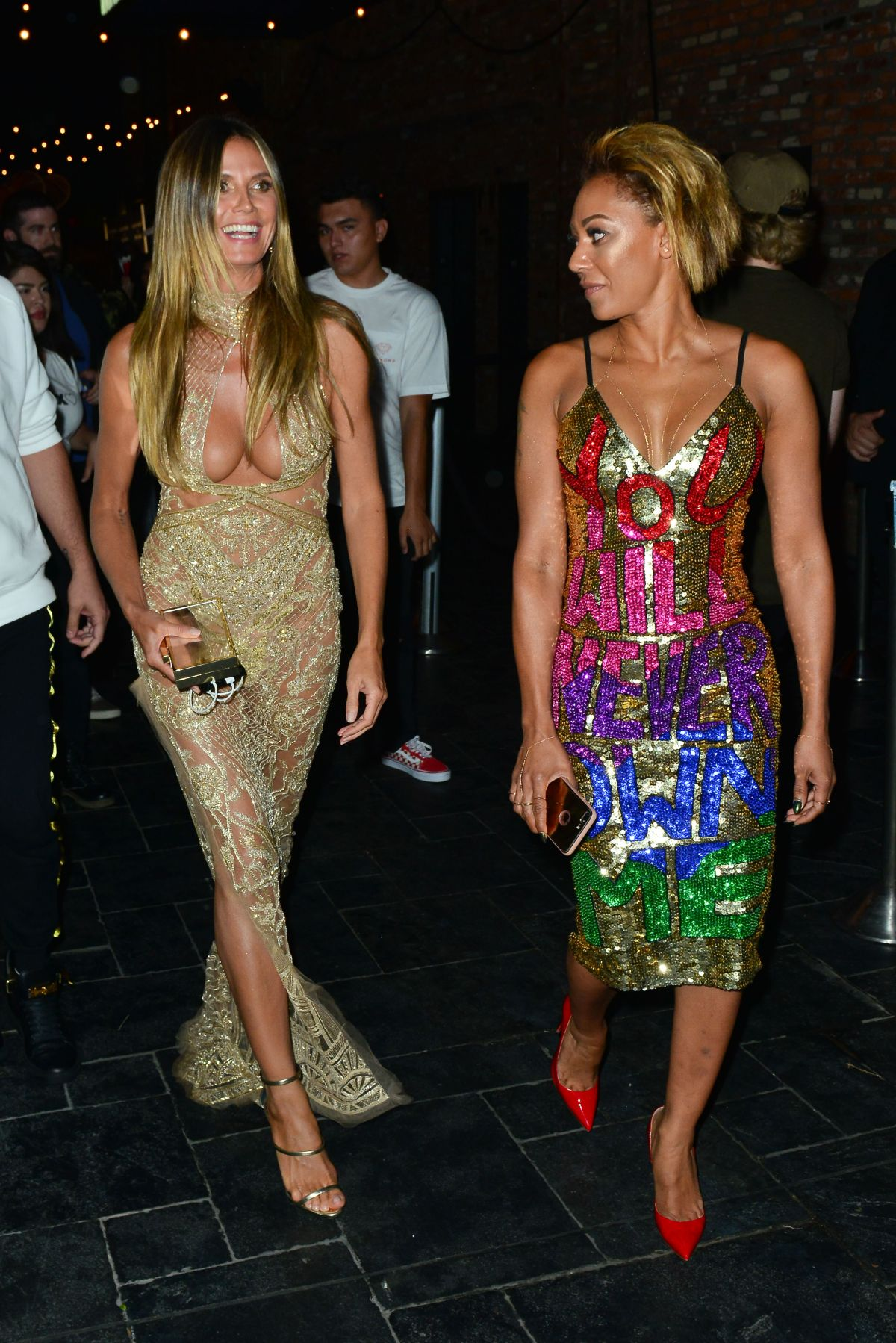 HEIDI KLUM and MELANIE BROWN at Beauty & Essex VMA After-party in Hollywood 08/27/2017