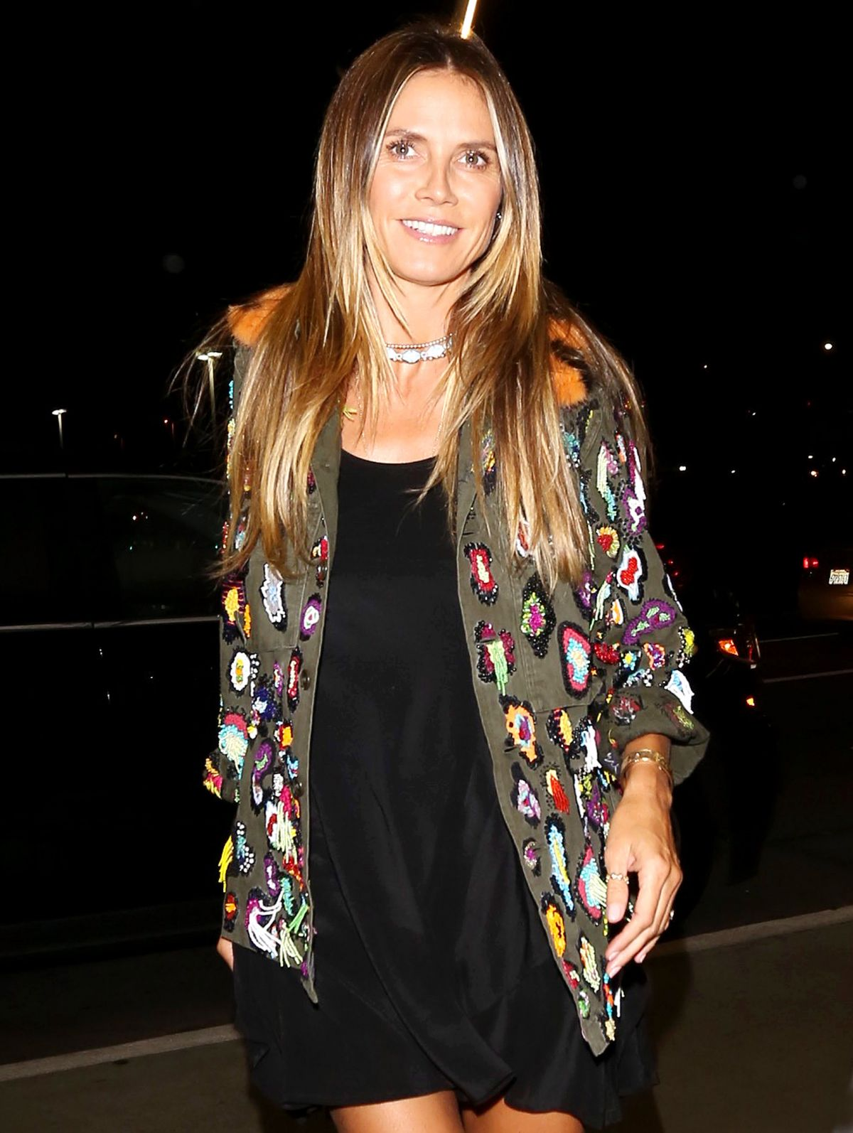 HEIDI KLUM at Los Angeles International Airport 08/18/2017