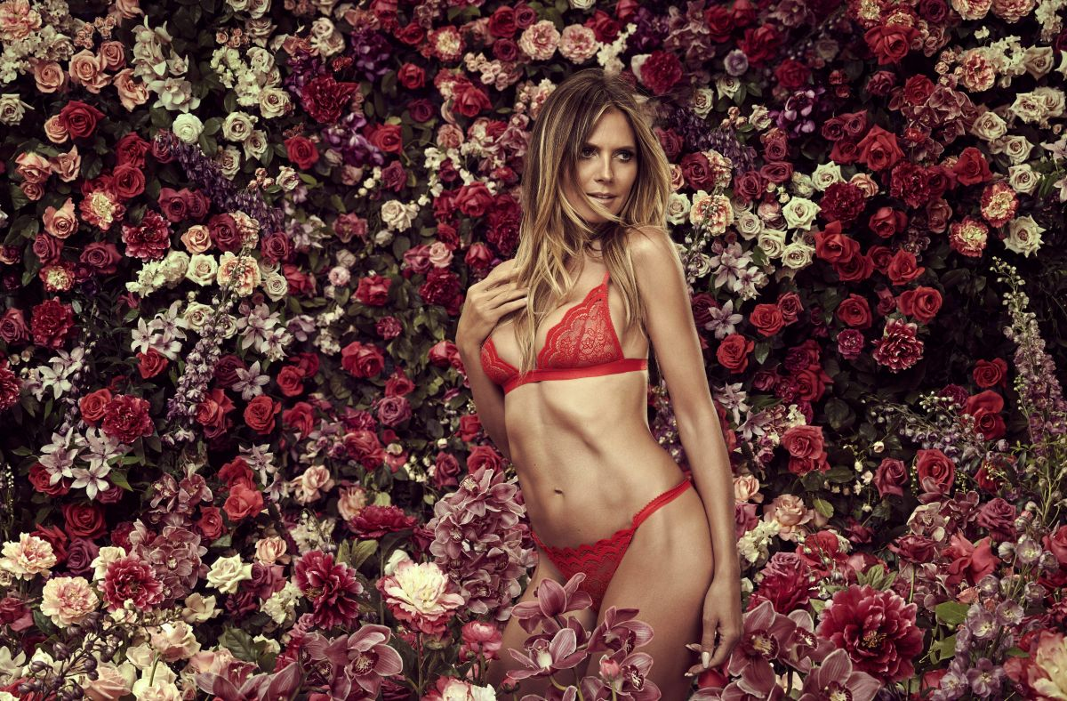 HEIDI KLUM for Intimates Lingerie 6th Collection Campaign, August 2017