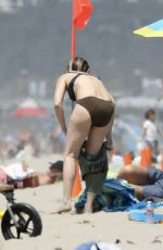 HELEN HUNT in Bikini at a Beach in Santa Monica 08/16/2017