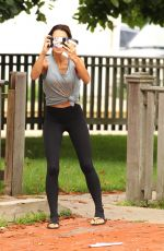 HILARIA BALDWIN Out and About in Hamptons 08/15/2017