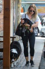 HILARY DUFF at a Vet in Sherman Oaks 08/26/2017