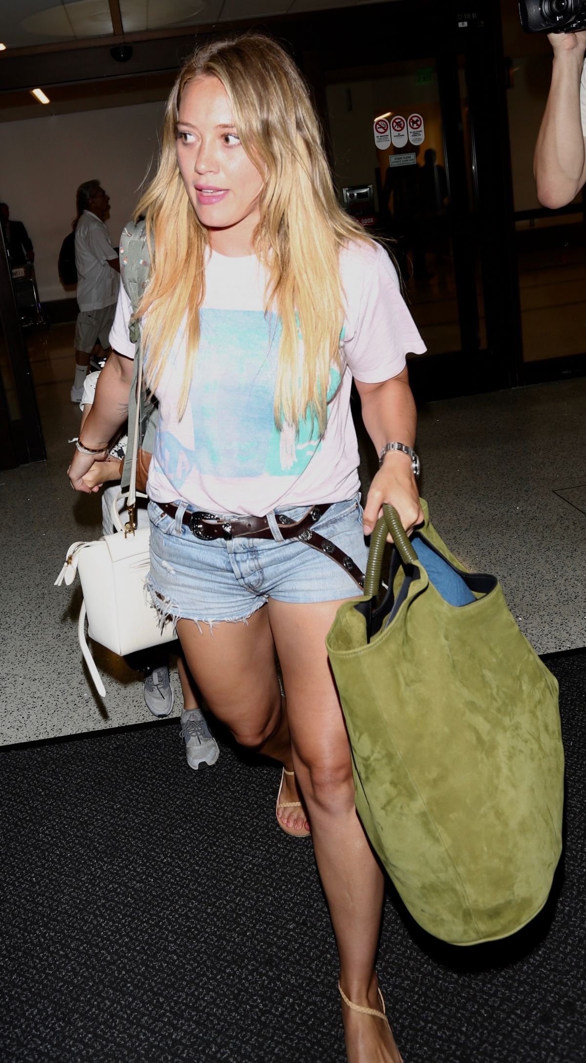 HILARY DUFF at LAX Airport in Los Angeles 08/14/2017