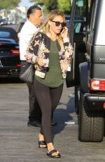 HILARY DUFF Heading to Yoga Class in West Hollywood 08/24/2017