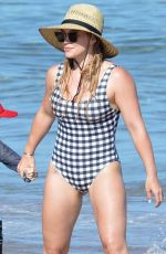 HILARY DUFF in Swimsuit at a Beach in Maui 08/02/2017