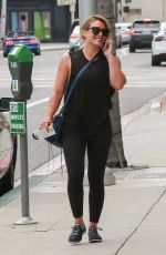 HILARY DUFF Out in Beverly Hills 08/16/2017
