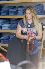 HILARY DUFF Out Shopping in West Hollywood 08/30/2017