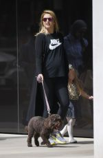 HOLLY VALANCE Out with Her Dog in Knightsbridge 08/16/2017