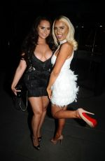 ISABELLE WARBURTON adn CHANELLE MCCLEARY at House Bar in Manchester 08/05/2017