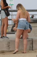 ISKRA LAWRENCE Filming at Venice Beach 08/14/2017