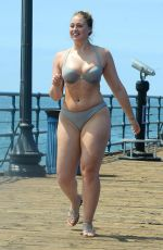 ISKRA LAWRENCE in Bikini on the Set of a Photoshoot for Her Website in Santa Monica 08/15/2017