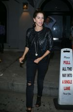 JAMI GERTZ Out for Dinner in West Hollywood 08/21/2017
