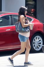 JAMIE-LYNN SIGLER in Denim Shorts Out in Santa Monica 08/08/2017