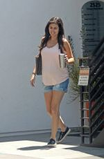 JAMIE-LYNN SIGLER in Denim Shorts Out in Santa Monica 08/08/2017