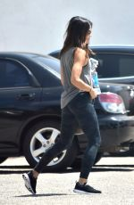 JENNA DEWAN Arrives at a Gym in West Hollywood 08/10/2017