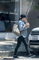 JENNA DEWAN Out for Ice Coffee in Los Angeles 08/22/2017