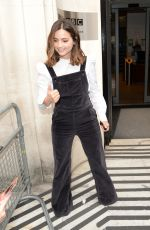 JENNA LOUISE COLEMAN Arrives at BBC Radio in London 08/24/2017
