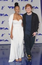 JENNIE PEGOUSKIE and Ed Sheeran at 2017 MTV Video Music Awards in Los Angeles 08/27/2017